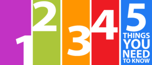 De innerlijke criticus herkennen - vijf kenmerken - de cijfers 1, 2, 3, 4, 5 in vrolijk gekleurde balkjes