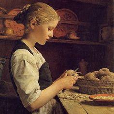 Dame die aardappels schilt: even geen innerlijke criticus